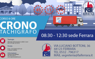 CORSO CRONOTACHIGRAFO 14/09 e 28/09